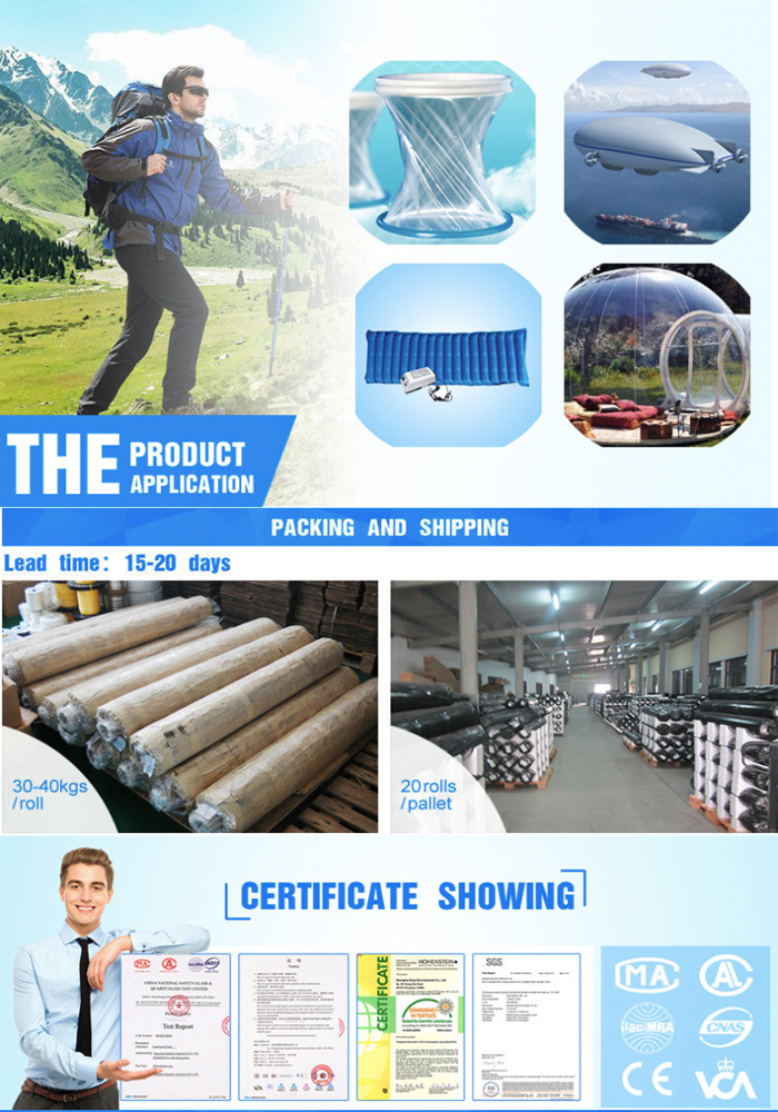 PVC transparent film application