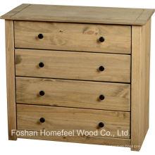 Armário de madeira tipo cômodo de 4 caixas de madeira antigo (HC16)