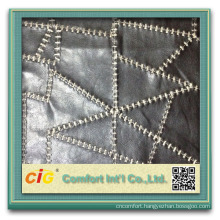 High Quality and Classic Design of PU Leather Fabric for Making Bags