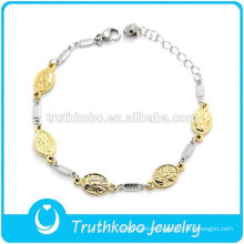 Costume jewelry Virgin Mary stainless steel bracelet vintage charmbracelet jewelry