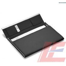 Venta al por mayor A4 PU cuero 4 carpeta de archivo de anillos / carpeta de archivos multifunción / carpeta con broche de presión magnético