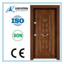 Porta exterior blindada de madeira de aço