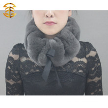Wholesale Hotsale Winter Scarf Genuine Rex Rabbit Knitted Fur Scarf