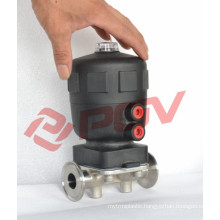 Sanitary clamp connection pneumatic air actuated diaphram valve