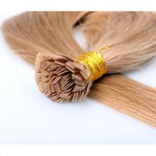 Cabelo liso brasileiro virgem em linha personalizado da ponta de Prebonded da cor