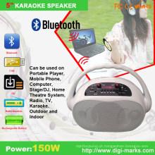 Mini alto-falante sem fio Bluetooth colorido de 5 polegadas com microfone