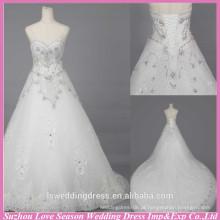 WD6018 Qualidade tecido pesado artesanal de exportação de qualidade cristal alibaba vestido de casamento vestidos de noiva de renda longa