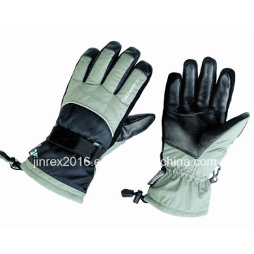 Ski Winter beheizt Moto Warm wasserdicht Winddicht Outdoor Leder Handschuhe