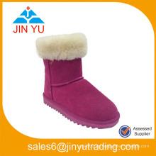 Bota de invierno de seguridad de nieve de piel de mujer