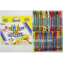 Kjin 32pcs Wachsmalstifte im Farbenkasten für Kinder