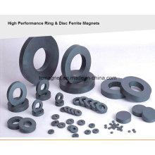 Verschiedene Größe der Ring-Ferrit-Magnete, weit verbreitet in Lautsprecher