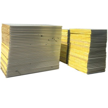 bahan pembinaan 60 mm panel sandwic kaca kaca