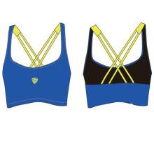 Senhoras personalizadas de secagem rápida Yoga Bra Sports for Sports