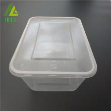 Boîte en plastique de rectangle de nourriture de pp avec la couverture