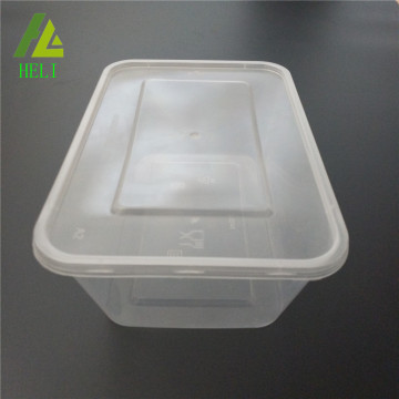 pp plastic rectangle food box with cover