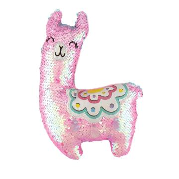LLAMA SEQUIN PLUSH PILLOW-0