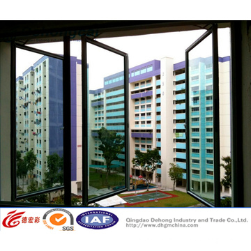Double Glazing Aluminum / UPVC Casement/Swing Plastic Window