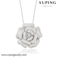 32051 xuping fashion jewelry luxury diamond flower pendant for party