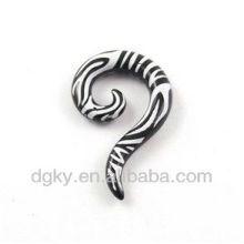 Zebra uv acrylique bouchons d'oreille amplificateur Ear Spiral Taper