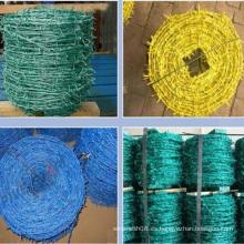 Alambre de púas de hierro de PVC para valla de malla