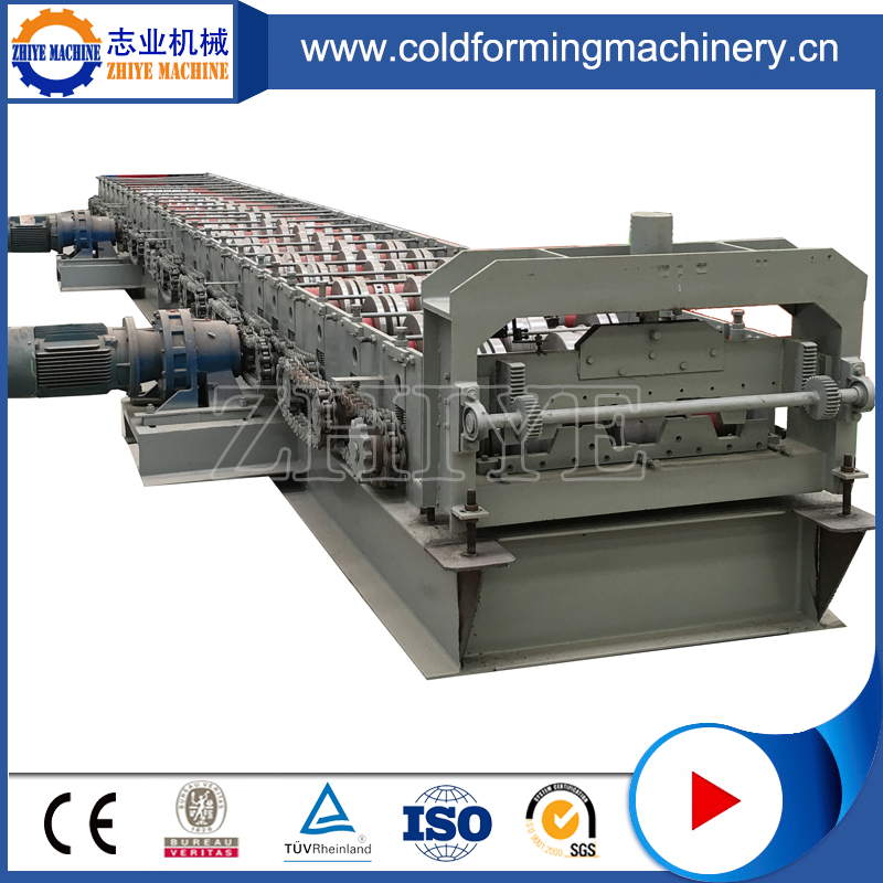 High-speed floor decking steel panel construction roll forming machine