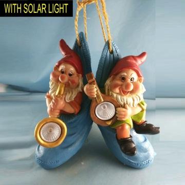 Decoración de jardín colgante Polyresin Dwarf W. Solarlight