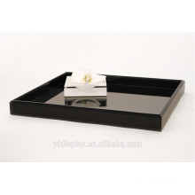 Good Quality Black Acrylic Serving Tray For Hotel