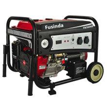 Benzin-Benzin-Generator Fusinda 3kVA mit nicht flachen Rädern
