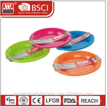 Colorful round Plastic dinner plate