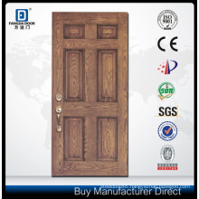 High Definition Embossing 6 Pnl Fiberglass Door