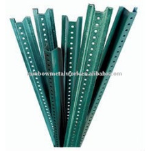Stahl verzinkt / grüne U-Kanal-Pfosten