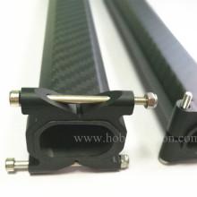 Abraçadeiras horizontais CNC de alumínio para tubos quadrados