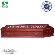 Direktverkauf auf europäisch Nussbaum Erwachsenen Sarg in China hergestellt
