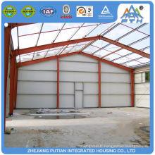 Chine produit en alliage d'aluminium fenêtre préfabriqué structure en acier entrepôt