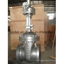 Großer Stahlguss-Stahl-Flansch-Absperrschieber mit Kegelradgetriebe