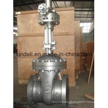 Válvula de porta de extremidade flangeada de aço de molde de grande diâmetro com engrenagem cônica