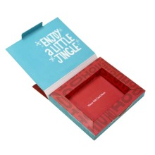 Favors Red Christmas Gift Card Foldable Paper Box