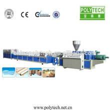 Máquina de extrusión de Perfil de alibaba PE WPC para pabellón, cubo de basura, valla, tablero de piso