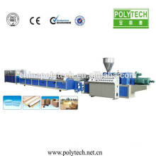 Alibaba PE WPC profile extrusion machine for pavilion,dustbin,fence,floor board