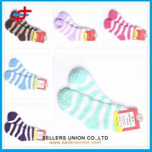 Candy цветные девушки зимой мягкие носки / толстые дома полотенце носки / дома этаж носки для крытый