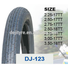 China natural rubber tube motorcycle tyre DJ-123