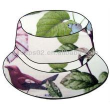 Sombrero BH-2100 de cubo de flor blanca