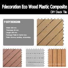 WPC Decking DIY Decking Decking de madera compuesto de plástico