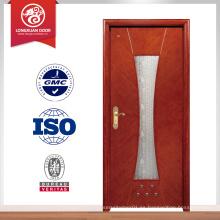 Manufactory suministro de madera puerta interior con vidrio