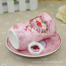OEM ODM Service Available Porcelain Heart Shape Ceramic Coffee Cup On A Large Scale
