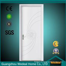 Melamina PVC laminado MDF Interior puerta de madera
