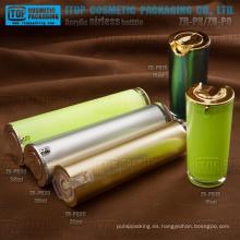Atractiva caliente-venta clásica y popular forma cónica redonda airless loción bomba alta calidad envases cosméticos botella
