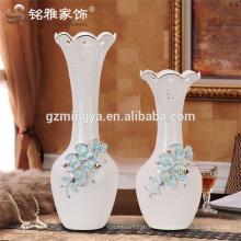 Alta calidad de recuerdos de la boda casa decoración flor cerámica pulido florero con flor