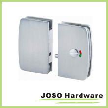 Round Edge Glass porta deslizante Door Lock Hardware (GDL002B)