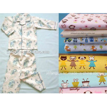 Cotton Flannel Fabric for Babywear, Various Kinds of Designs